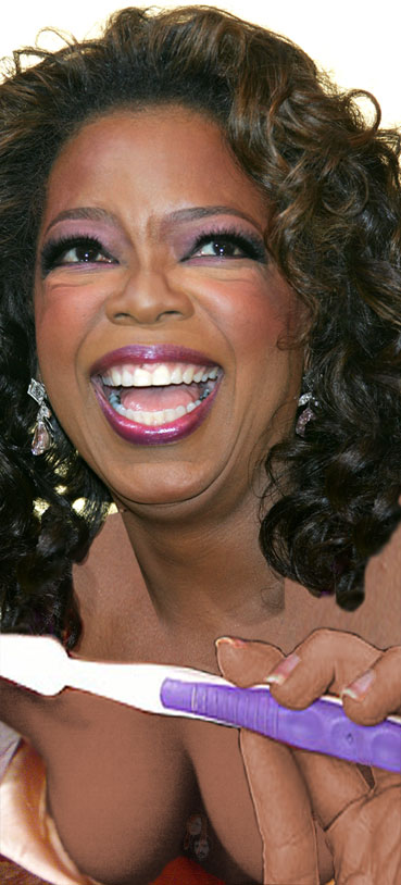 Oprah Brushing Teeth